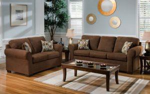 Tipe rumah 60 sofa coklat