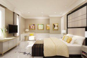 Lantai kamar tidur Marmer